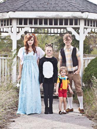 Pinocchio Family Costume (click through for tutorial