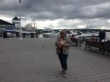 Mom on the marina